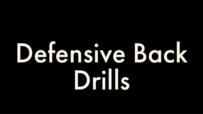 Defensive Back Drills for Youth Football