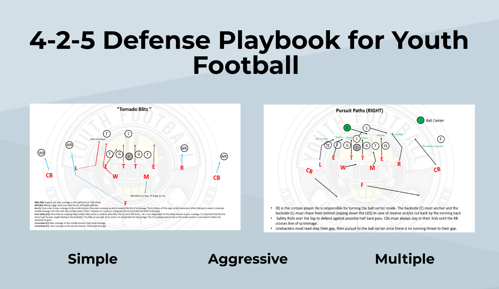 4 2 5 Defense Playbook For Youth Football Pdf Football Playbook
