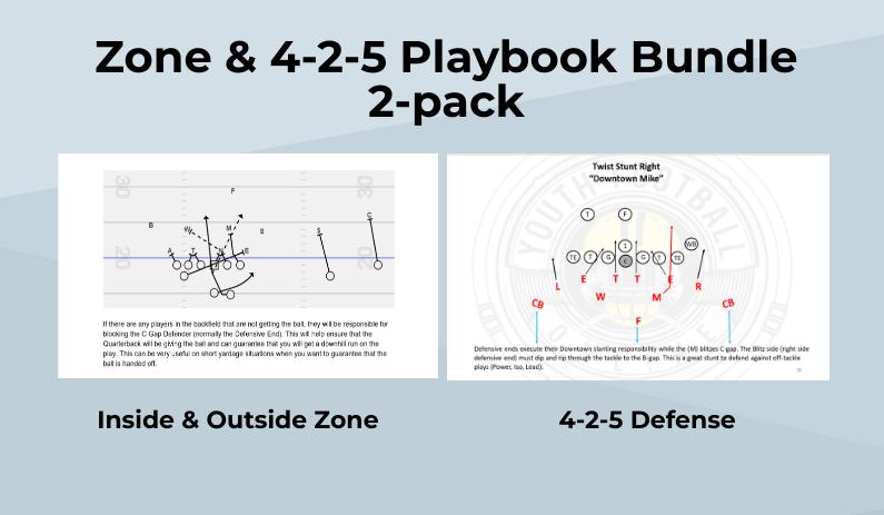 Zone & 4-2-5 Playbook Bundle